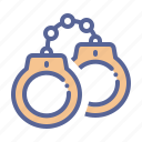 arrest, handcuffs, jail, manacles icon
