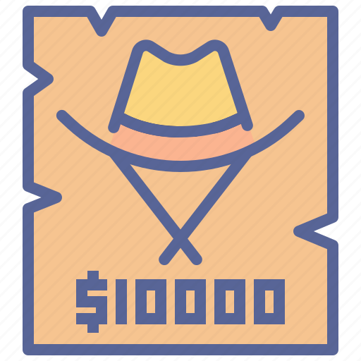 Poster, reward, thief, wanted icon - Download on Iconfinder