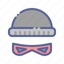 beanie, burglar, robber, thief icon