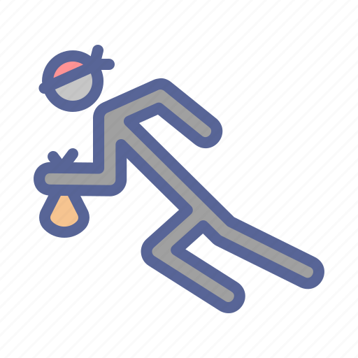 Escape, robbery, run, thief icon - Download on Iconfinder