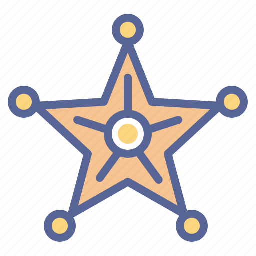 Badge, honor, sheriff, star icon - Download on Iconfinder