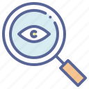 detective, eye, magnifying, spy icon