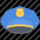cap, court, jurisprudence, law, police, policeman