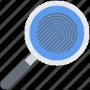court, fingerprint, jurisprudence, law, magnifier, police, search