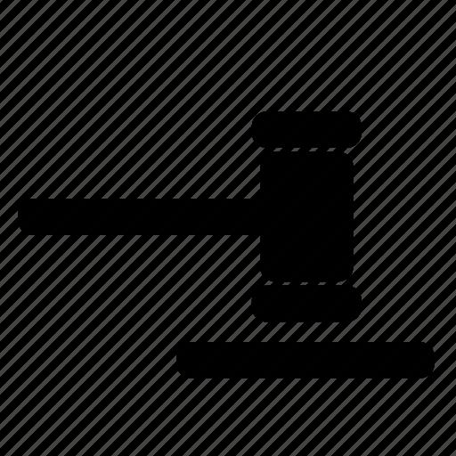 decision, justice, law, legal gavel, verdict icon