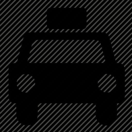 car, patrol, police, police car, police siren icon