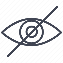 allowed, eye, law, not, view, visible, vision icon