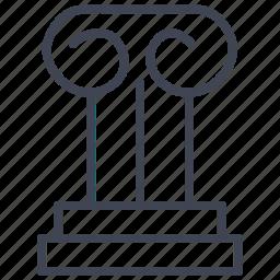 architecture, building, column, construction, pillar, pillars icon