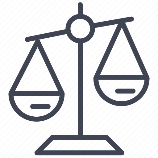 Scale, balance, justice, law, weighing icon - Download on Iconfinder