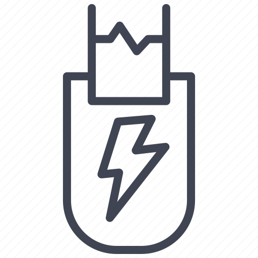 Tazer, crime, electric, electricity, law icon - Download on Iconfinder