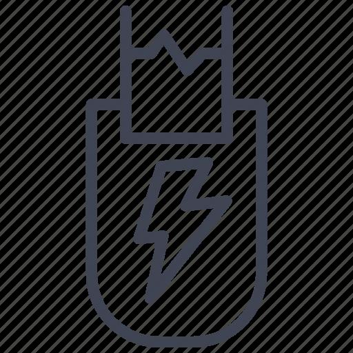 crime, electric, electricity, law, tazer icon