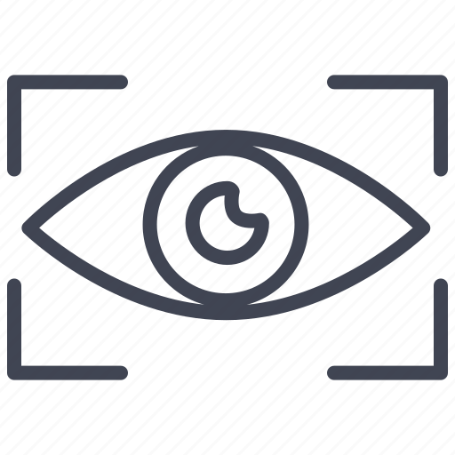 eye, look, view, visibility, visible, vision icon