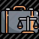 bag, briefcase, crime, criminal, justice, law icon