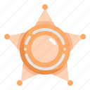 badge, justice, law, police, policeman, sheriff, star