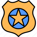badge, justice, law, military, police, prize, shield