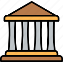 estate, courthouse, law, property, building, real, justice icon