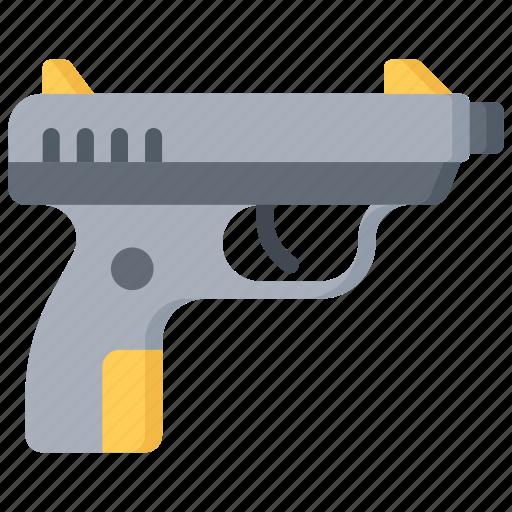 enforcement, firearm, gun, law, police, policing icon