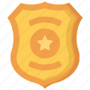 badge, enforcement, law, police, policing, shield