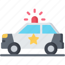car, enforcement, law, police, policing, vehicle icon