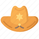 enforcement, hat, law, policing, sheriff icon