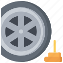 enforcement, law, policing, spike, tyre, wheel icon