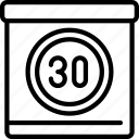 enforcement, law, limit, policing, sign, speed icon
