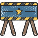 barricade, barrier, enforcement, law, police, policing icon