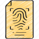 enforcement, finger, law, policing, print, records icon