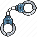 enforcement, equipment, handcuffs, law, police, policing icon