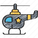 enforcement, helicopter, law, police, policing, vehicles icon