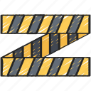 crime, enforcement, law, police, policing, tape icon
