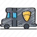 enforcement, law, policing, swat, van, vehicles icon