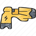 enforcement, law, police, policing, taser, weapon icon