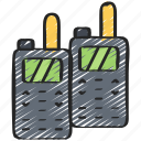 enforcement, equipment, law, police, policing, talkies, walkie icon