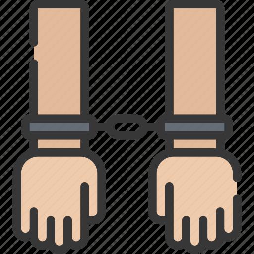 arrested, criminal, enforcement, law, policing icon
