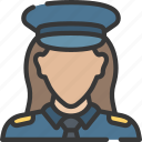 enforcement, female, law, officer, police, policing icon