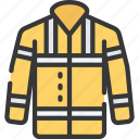 coat, enforcement, high, jacket, law, policing, vis icon