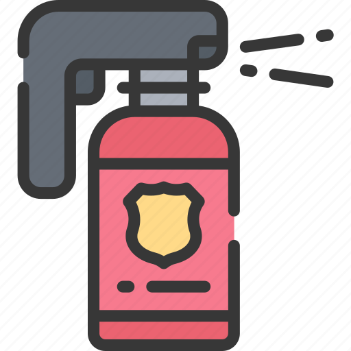enforcement, law, pepper, police, policing, spray, weapon icon