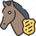 animal, enforcement, horse, law, police, policing icon