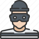 avatar, enforcement, law, policing, robber icon