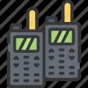 enforcement, equipment, law, police, policing, talkies, walkie