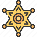 badge, enforcement, law, police, policing, sheriff icon