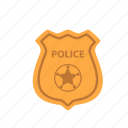 badge, law, police icon