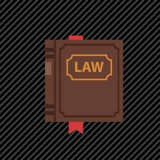 book, law, ribbon icon