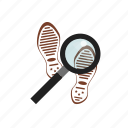 clue, law, search, shoe icon