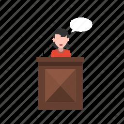 law, presentation, speech icon