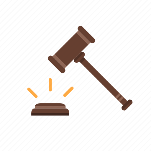 hammer, law icon