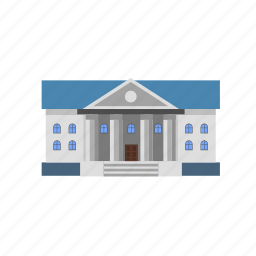bank, building, finance, law icon