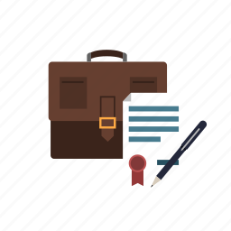 agreement, job, law, portfolio icon
