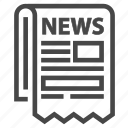 journal, law, magazine, media, news, newspaper icon